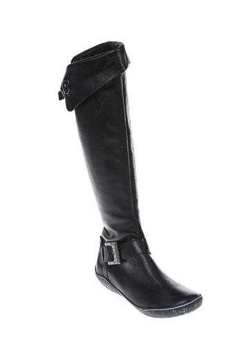 pablo et lele bottes femme de couleur noir