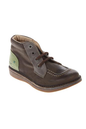 kickers boots garcon de couleur vert