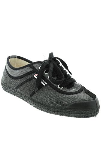 kawasaki chaussures femme de couleur noir