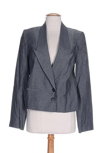 les petites collections vestes femme de couleur bleu