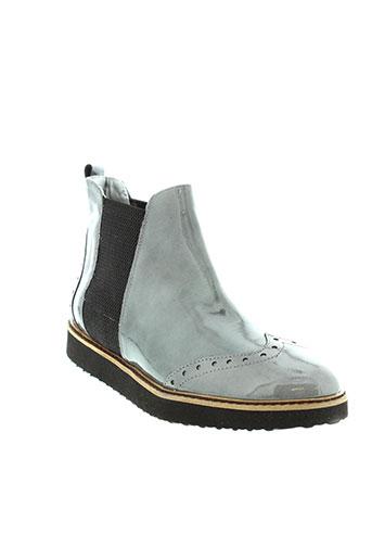 ippon et vintage boots femme de couleur gris