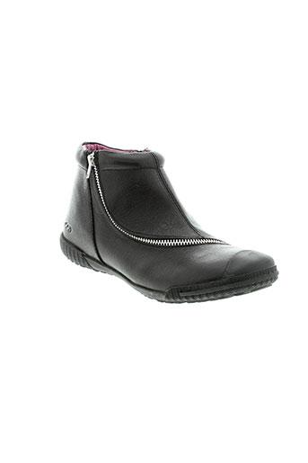 mod et 8 boots fille de couleur noir