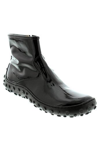 pom et d et api boots fille de couleur noir
