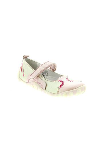 peche d'amour chaussures fille de couleur rose