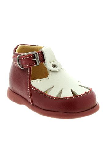little mary chaussures fille de couleur rouge