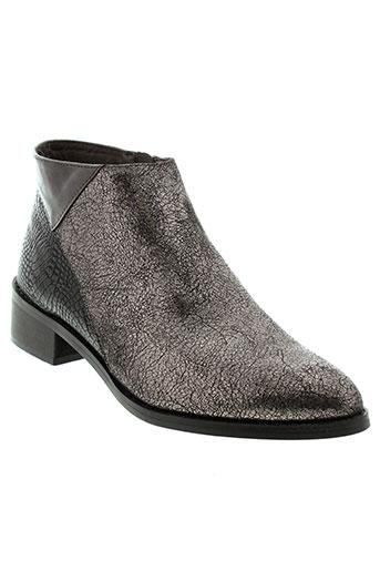 vanessa et wu boots femme de couleur gris