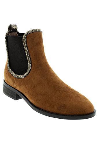 vanessa et wu boots femme de couleur marron