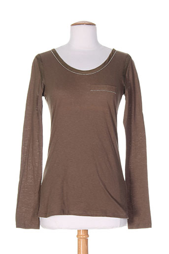 salt EFFI_CHAR_1 pepper t et shirts et tops femme de couleur marron