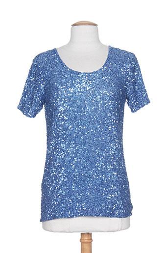 exetera chemises femme de couleur bleu