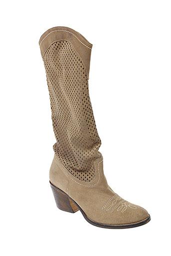 meline bottes femme de couleur beige
