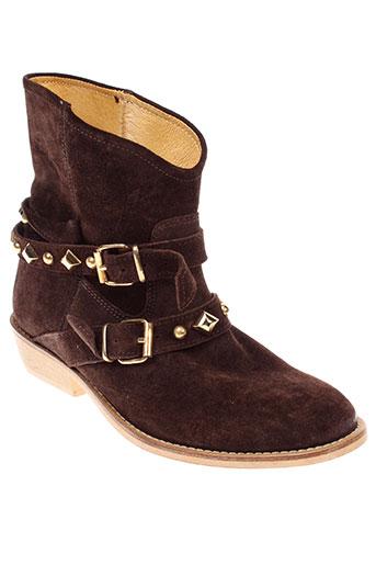 d et co et copenhagen boots femme de couleur marron
