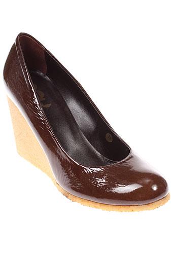 yim chaussures femme de couleur marron
