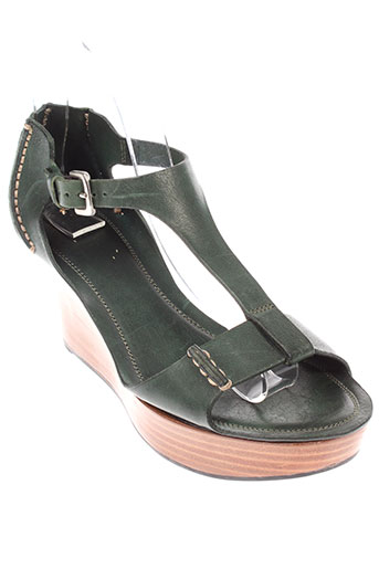 buttero sandales et nu et pieds femme de couleur vert