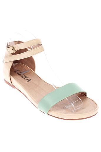 esska sandales et nu et pieds femme de couleur beige
