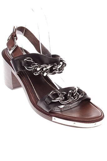 arte et fact sandales et nu et pieds femme de couleur marron