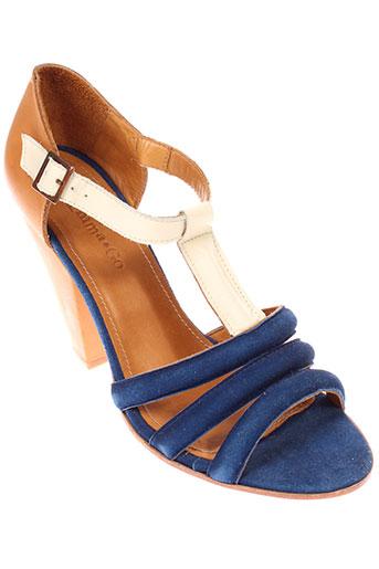emma et go sandales et nu et pieds femme de couleur bleu