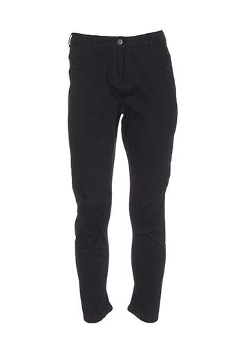 minimum pantalons femme de couleur noir