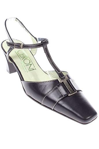 ceroni chaussures femme de couleur bleu