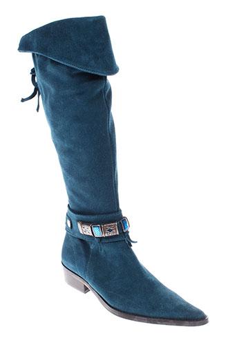 regard bottes femme de couleur bleu