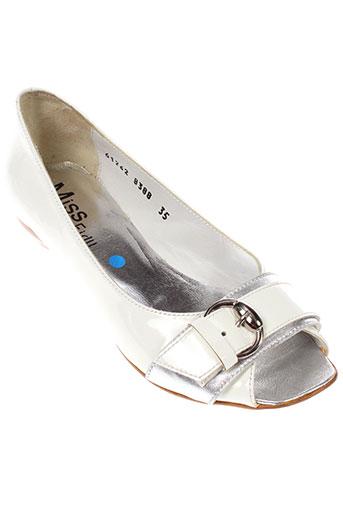 miss fidji chaussures femme de couleur blanc