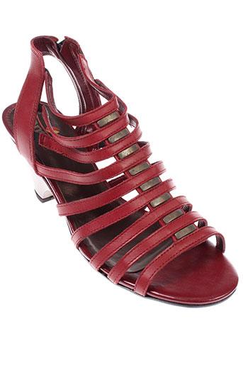 santafe sandales et nu et pieds femme de couleur rouge