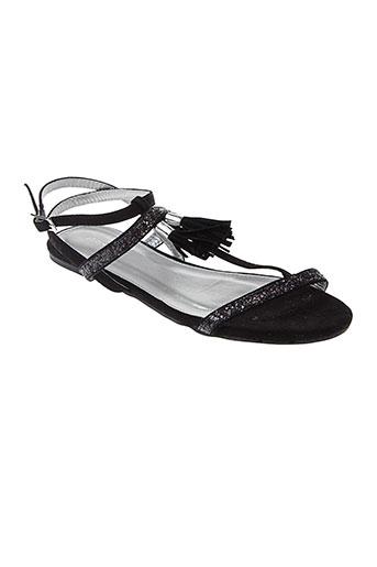 metamorf et ose sandales et nu et pieds femme de couleur noir
