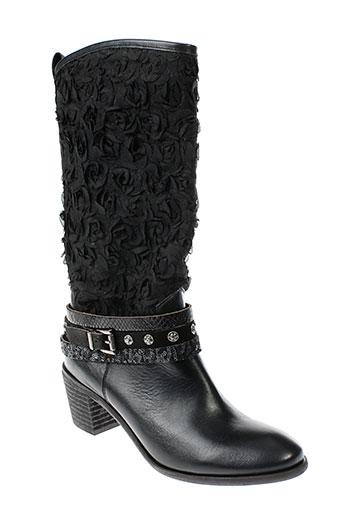 kanna bottes femme de couleur noir