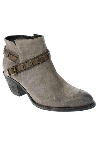 un et matin et d et ete boots femme de couleur gris