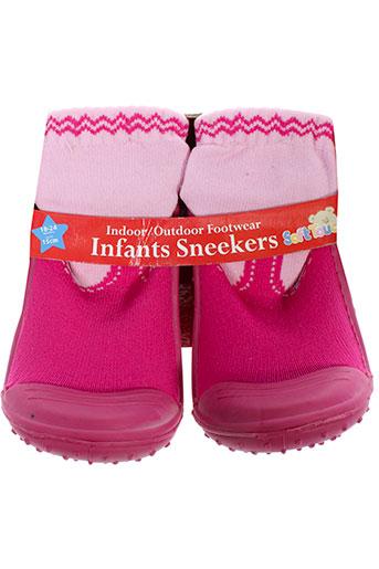 soft touch chaussures fille de couleur rose
