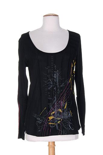 franck anna chemises femme de couleur noir