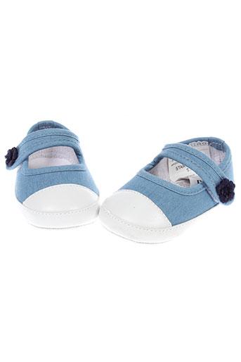 boboli chaussures fille de couleur bleu