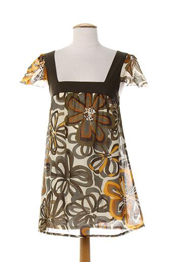 marella chemises femme de couleur marron