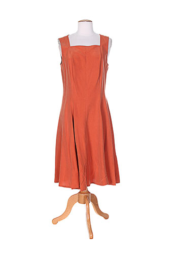 federica robes femme de couleur orange
