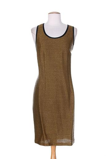 deni cler robes femme de couleur marron