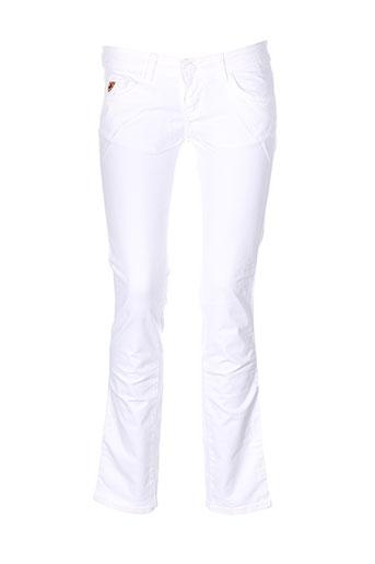 lois pantalons femme de couleur blanc