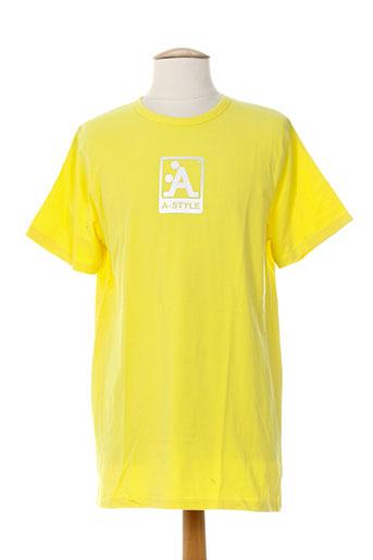 a-style t-shirts homme de couleur jaune