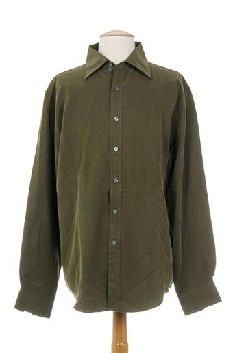 firetrap chemises homme de couleur vert