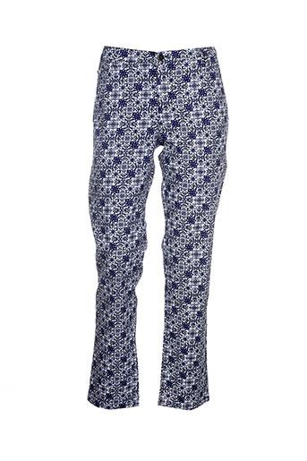 concept et k pantalons et decontractes femme de couleur bleu