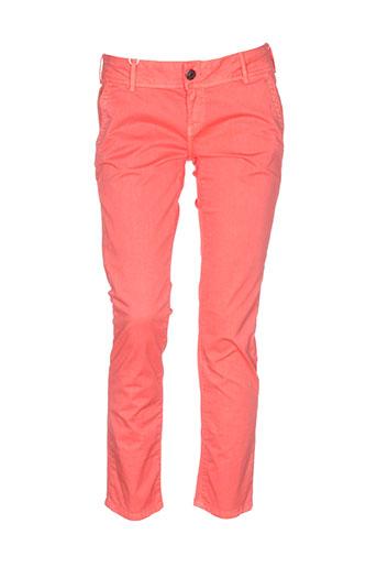 sixty et seven pantalons et decontractes femme de couleur orange