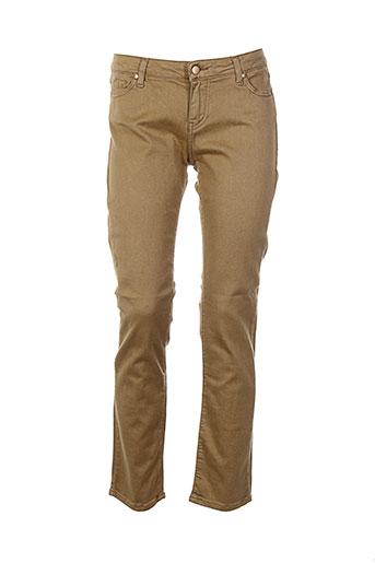 des petits hauts pantalons femme de couleur marron