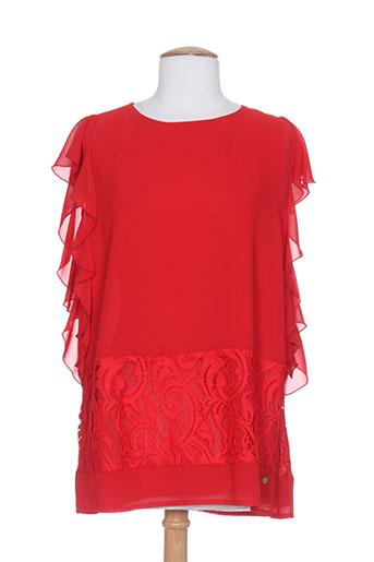 carla montanarini chemises femme de couleur rouge