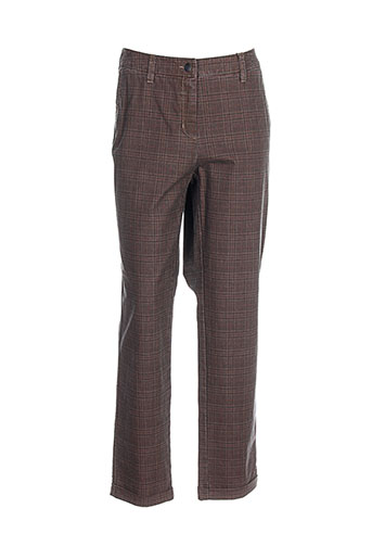 toni dress pantalons femme de couleur marron