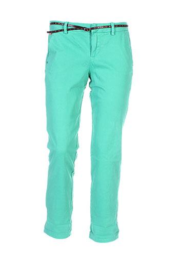 guess pantalons femme de couleur vert