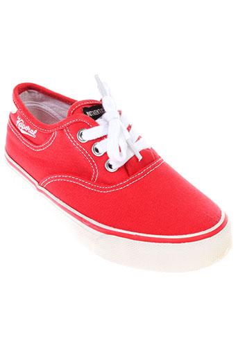 kaporal baskets enfant de couleur rouge