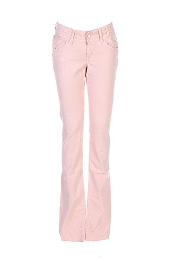 teddy smith jeans fille de couleur rose