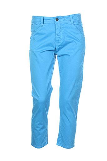 school rag pantacourts femme de couleur bleu