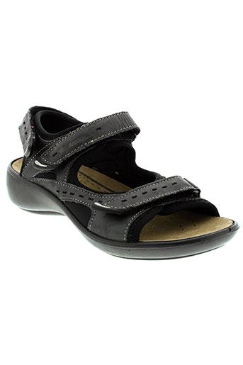 romika sandales et nu et pieds femme de couleur noir