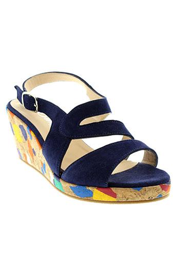 rebelles sandales et nu et pieds femme de couleur bleu