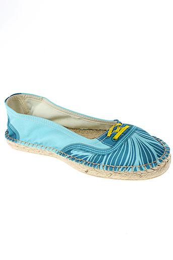 string republic chaussures femme de couleur bleu