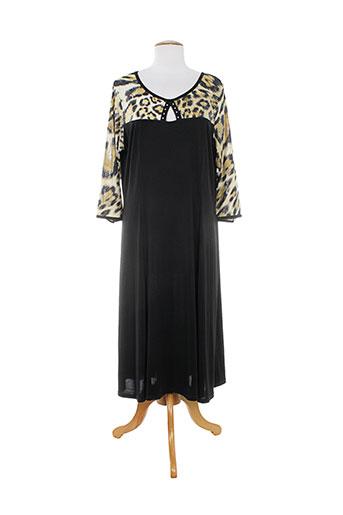 fluide paris robes femme de couleur noir